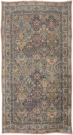 """Kerman 8'10"""" x 16'9"""" Circa 1920 Southeast Persia Ref no. 4718 {rugs, carpets, traditional, home collection, decor, warp & weft}"""