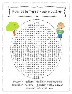 Jour de la Terre - Mots cachés et mélangés School Resources, Teaching Resources, Earth Day Information, French Education, Core French, Earth Day Activities, French Classroom, French Resources, French Immersion
