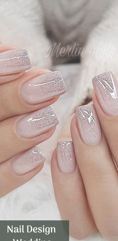 Nail Design Metalic For Wedding nails are an art expression to many brides nowad. - Nail designs - Hybrid Elektronike - Nail Design Metalic For Wedding nails are an art expression to many brides nowad… – Nail design - Marble Nail Designs, Nail Art Designs, Crazy Nail Designs, Water Nails, Wedding Nails Design, Nail Designs For Weddings, Nails For Wedding, Wedding Manicure, Glitter Wedding Nails