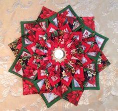 Double fold & stitch wreath