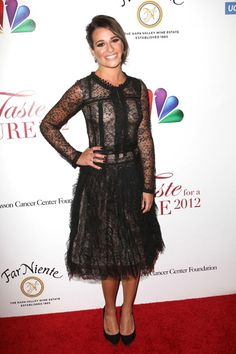 Lea Michele and Darren Criss at Taste for a Cure Gala