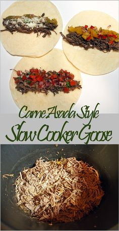 Carne Asada Style Slow Cooker Goose - a sure way to get non-wild game eaters to try and like something new!