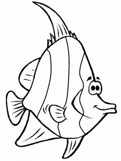 Fische 5 Ausmalbilder Colouring Pages, Printable Coloring Pages, Full Hd Wallpapers, Cartoon Fish, Fish Drawings, Cartoon Sketches, Felt Birds, Digi Stamps, Black And White Pictures
