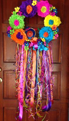 Viva Fiesta! Fiesta Wreath - happy with my creation, $90