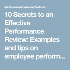 Tips On How To Prepare And Give An Employee Performance Review