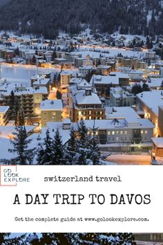Davos is on of the most well known Swiss destinations. Let us find out what do to in Davos. Places In Switzerland, Visit Switzerland, European Destination, European Travel, Europe Travel Tips, Travel Destinations, Great Places To Travel, Davos, Swiss Alps