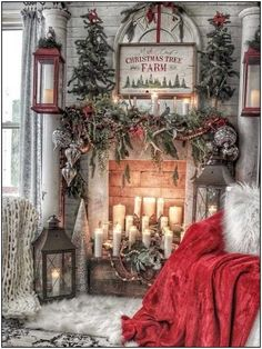Here are the Christmas Fireplace Decor Ideas. This post about Christmas Fireplace Decor Ideas was. Christmas Room, Christmas Mantels, Cozy Christmas, Outdoor Christmas, Vintage Christmas, White Christmas, Christmas Staircase, Christmas Ideas, Christmas Movies