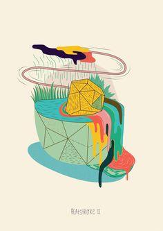 Heatstroke (editioned exhibition prints) by Maaike Bakker, via Behance
