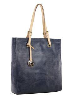 Bolsa feminina estilo minimalista em couro estampa lizard.