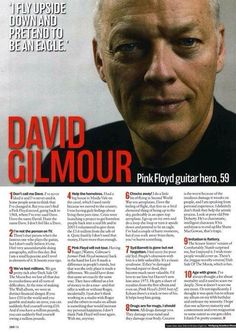 """David Gilmour, """"Don't call me Dave"""" David Gilmour Pink Floyd, Richard Wright, Good Daddy, Best Guitarist, Roger Waters, The Deed, Dont Call Me, Theme Song, Great Bands"""