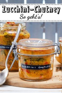 Zucchini chutney - Zucchini chutney – delicious on bread or with grilled meat. - Zucchini chutney – Zucchini chutney – delicious on bread or with grilled meats. Vegetable Soup Healthy, Vegetable Puree, Vegetable Recipes, Healthy Soup, Chutneys, Crockpot Recipes, Soup Recipes, Healthy Dinner Recipes, Vegetarian Recipes