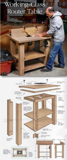 Router Table Plans - Router Tips, Jigs and Fixtures | WoodArchivist.com #woodworkingbench