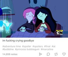 """Marceline the Vampire Queen and Princess Bubblegum, """"Adventure Time"""" Adventure Time Finale, Adventure Time Anime, Adventure Time Princesses, Adventure Time Marceline, Simple Iphone Wallpaper, Marceline And Princess Bubblegum, Finn The Human, Vampire Queen, Jake The Dogs"""