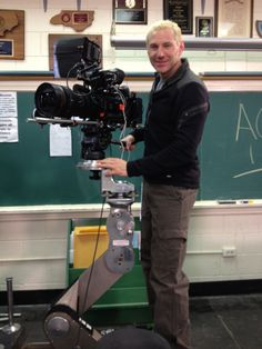 """Sony PMW-F3 RED 18-85 on a pee wee dolly. Shooting for the ACC hoops tourney show open for ESPN."" via @boomeralred"