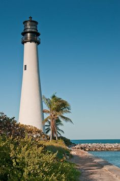 Cape Florida Lighthouse. Oldest standing structure in Miami-Dade
