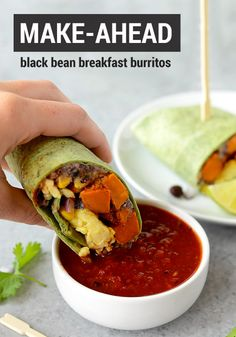 mornings with this recipe for Make-Ahead Black Bean Breakfast Burritos ...