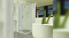 Shower Doors | Aluminium Windows and Doors by Action Glass & Aluminium Aluminium Windows And Doors, Glass And Aluminium, Shower Doors, Bathtub, Action, Standing Bath, Bathtubs, Group Action, Bath Tube