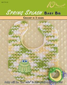 SPRING SPLASH Crochet Baby Bib Pattern [Digital File Download] - $3.95