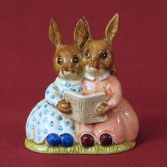 Royal Doulton Bunnykins Storytime Figurine from alleycatlane on Ruby Lane