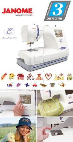 ... Strima -] - JANOME MEMORY CRAFT 350E - Computerized embroidery machine