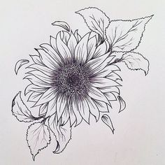 Getting a sunflower tattoo is an essential decision and a whopping deal because . - Getting a sunflower tattoo is an essential decision and a whopping deal because these tattoo designs - Tattoo Dotwork, 4 Tattoo, Tattoo Drawings, Tattoo Forearm, Tattoo Fonts, Tattoo Stencils, Tattoo Quotes, Tattoo Sketches, Tattoo On Hip Bone