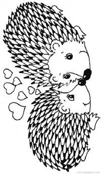 Hedgehogs Coloring Pages 33                                                                                                                                                                                 Mehr