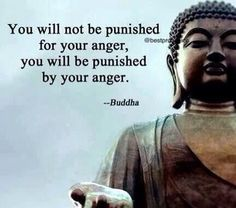 You will not be punished for your anger. You will be punished by your anger. - Buddha
