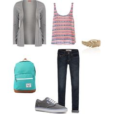 """""""School Outfit"""" by abbysilver on Polyvore"""