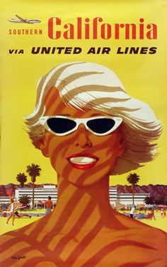 United Air Lines Southern California Girl 1955 - Mad Men Art: The 1891-1970 Vintage Advertisement Art Collection