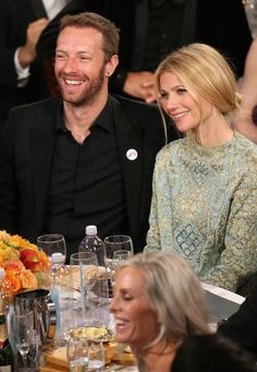 Gwyneth Paltrow and Chris Martin 2014 globes