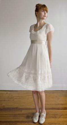 Picnic in a wedding dress...