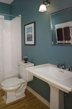 small bathroom ideas in blue | Bathroom Remodling Lafayette, CO | Bathroom Renovation Lafayette, CO