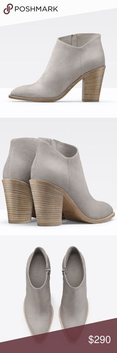 Like new Vince Nubuck Booties Like brand new, worn once only! Sold out everywhere. Love the style, only selling because I bought half size too small :((( Size: 7, I recommend buying if you are size 6.5 or 6. Price is final, already losing money on them. Vince Shoes Ankle Boots & Booties