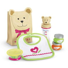 American Girl Bitty Baby Bitty's Snack Set for Dolls NEW in Dolls & Bears Baby Doll Diaper Bag, Baby Doll Toys, Reborn Baby Dolls, Muñeca Baby Alive, Baby Alive Dolls, American Girl Accessories, Baby Doll Accessories, American Girl Baby Doll, American Girl Furniture