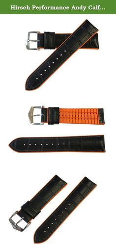 Hirsch Performance Andy Calfleather Alligator Embossed Rubber Lining Watch Band Strap BLACK / ORANGE 20mm. The Andy watchband is made of high-quality calfleather with alligator embossing and HIRSCH Premium Caoutchouc core. This cheeky fresh style in high quality, alligator embossed Tuscany calfskin. The bracelet end, combined with the colourful edge lend Andy a touch of extravagance. A carefree, fresh, eternally young fashion statement. In addition, the special geometry and superior…
