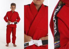 Vulkan Pro Light, KIDS Jiu-Jitsu Gi RED 31946 bjj grappling IBJJF judo mma youth #Vulkan