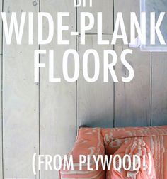 I really wanted old-looking white floors for our new studio space. I actually saw some interesting, beat-up knotty oak at Lumber Liquidators...