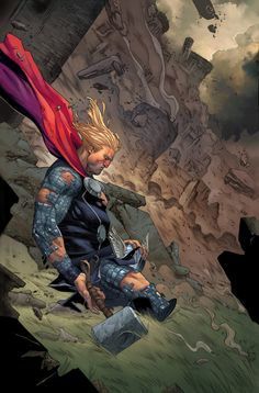 Thor by Jorge Molina and David Curiel Comic Book Characters, Comic Book Heroes, Marvel Characters, Comic Character, Comic Books Art, Comic Art, Book Art, Marvel Comics Art, Marvel Comic Universe
