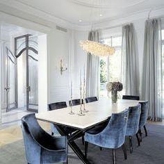 Blue velvet dining room chairs | Dining Room