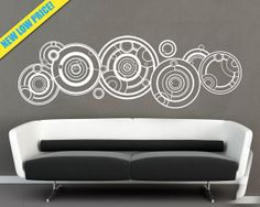 Extra Large Doctor Who Gallifreyan Vinyl Wall by VinylTherapy! Maybe for the living room wall