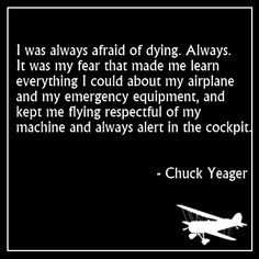 Chuck Yeager aviation quote