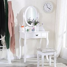 UEnjoy White Dressing Table Makeup Desk with Stool and Ro... https://www.amazon.co.uk/dp/B01IQTLK9G/ref=cm_sw_r_pi_dp_x_2IaGybM5KED65