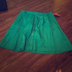Tealish-Green Button Down Skirt Never worn and absolutely adorable skirt - will look super cute with any top. Xhilaration Skirts Midi