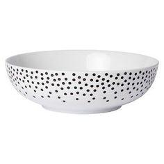 Cheeky® Nola 56oz Porcelain Serve Bowl - Black Dots