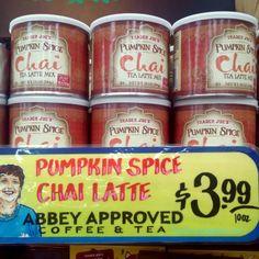 Trader Joe's Pumpkin Spice Chai Tea Latte Mix 10oz $3.99 トレーダージョーズ パンプキンスパイス チャイティラッテミックス