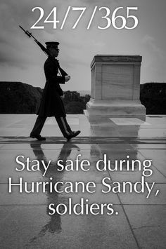 Days like today, we stand in awe of the dedication our military men and women have to their country and to each other. Remember all those who won't be taking cover or evacuating.