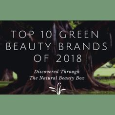 Top 10 Green Beauty Brands Discovered Through The Natural Beauty Box in 2018