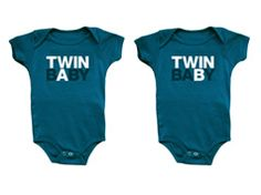 Twin A, twin B   If you are a twins mom we are sure that these onesies and shirts will add a touch of humor and distinction to their clothing.