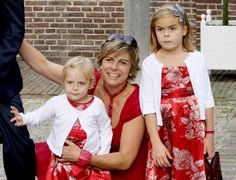 Princess Laurentien with her daughters Countess Eloise and Countess Leonore