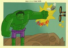 Who knew the Hulk would have such precision comic timing? What a pro Hulk SMASH puny Thor Marvel Art, Marvel Comics, Hulk Smash, Classic Comics, Thor, Mythology, Avengers, Art Gallery, Geek Stuff